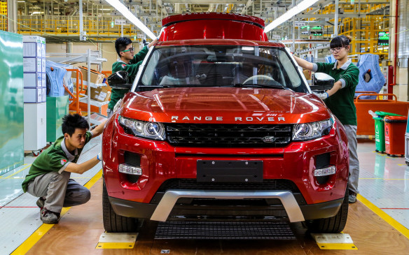 <p>Range Rover Evoque production in China</p>