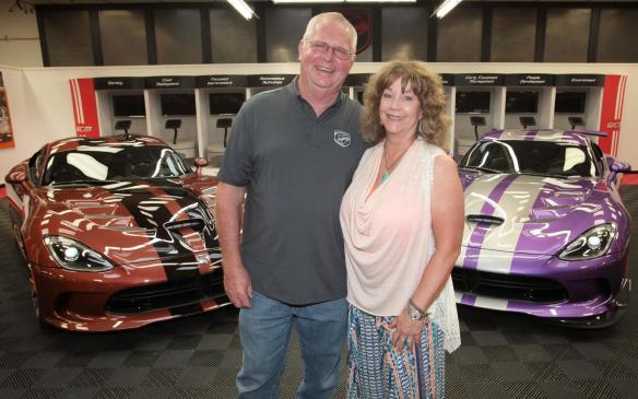 Wayne and D'Ann Rauh visited the Conner Avenue Assembly Plant in Detroit July 24, 2015 to take delivery of their unique new Viper GTC coupes.