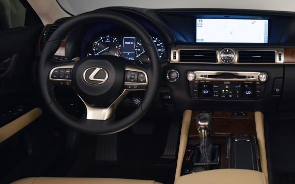 <p>2016 Lexus GS 200t interior</p>