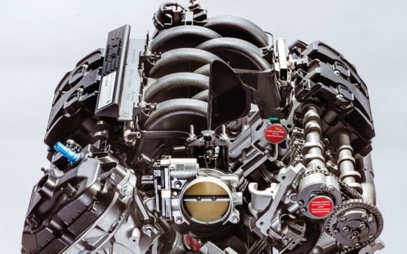 <p>Air gets to the engine through a thermoplastic intake manifold with longer and larger runners than the regular engine and a whopping 87-mm throttle body.</p> <p> </p>