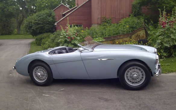 <p>Among more modern machinery will be a unique early-production Austin-Healey 100/4 BN1 Roadster. Built very early in the production run (#156) it has many unique features found only on early cars.</p>