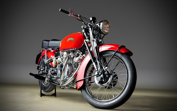 <p>And, for the first time, there will be a motorcycle class dedicated to Vincents, like this 1952 Vincent Rapide.</p>