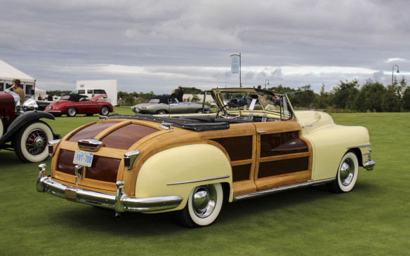 <p>Among the more sporting of the early post-war American models was this1948 Chrysler Town and Country Convertible. One of just 3,309 built, it's Ash wood framing is part of the body structure – not an add-on. The veneer inserts are pure mahogany.</p>