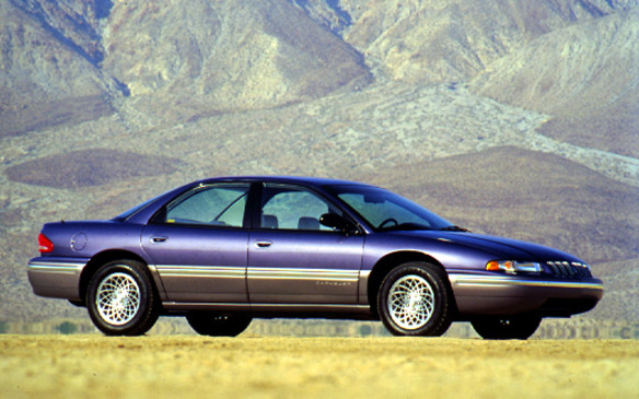 "<p>In 1993, the front-wheel-drive LH-body Concorde sedan debuted, with futuristic design derived from that of the Chrysler Portofino concept vehicle introduced at the Frankfurt Motor Show in 1987. Larger than a mid-size sedan but smaller than full-size, it featured the new ""cab forward"" design where the windshield was pushed forward and the wheels were located much closer to the corners of the car than was normal at the time, creating more interior cabin space for passengers.</p>"