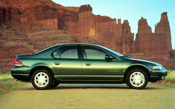 <p>The Chrysler Cirrus mid-size sedan debuted the cab forward design when it entered the market in 1995. The Cirrus also debuted simple but significant details like an easy-to-remove battery and, for the first time, ashtrays were not standard equipment, they were an option.</p>