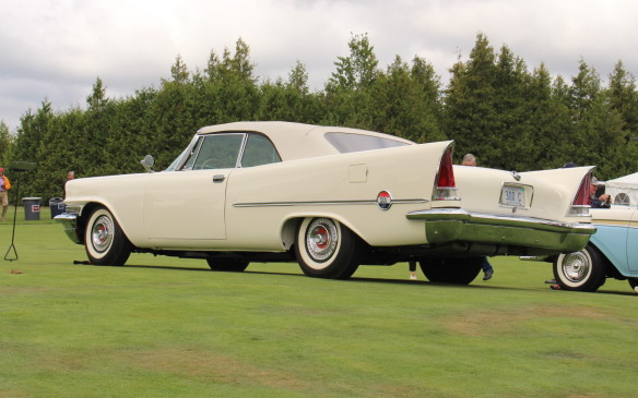 "<p>That first 300 was the beginning of what came to be known as the ""letter cars,"" the 300 designation advancing by a suffix letter each year, up through the 300L. Virgil Exner took over Chrysler design in the early 1950s, with his ""Forward Look"" styling debuting in 1955. Exner's new styling language featured a flat hood, light, airy roof and soaring tailfins, like on this 1957 Chrysler 300C. In 1957, Chrysler Corporation's entire line of cars was awarded Motor Trend's ""Car of the Year"" award, and Exner and his team received the Gold Medal from the Industrial Design Institute.</p>"