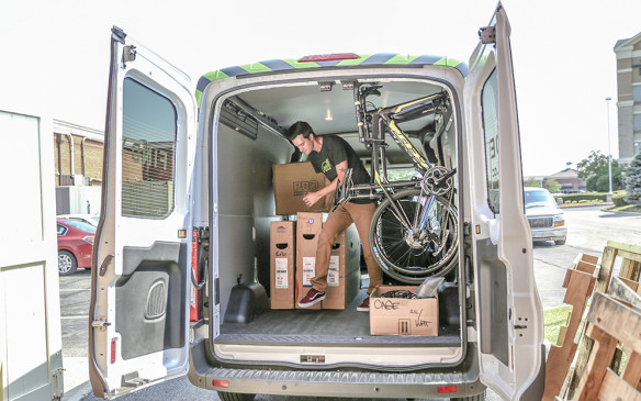 <p>Ford Transit used by cycling company roll</p>