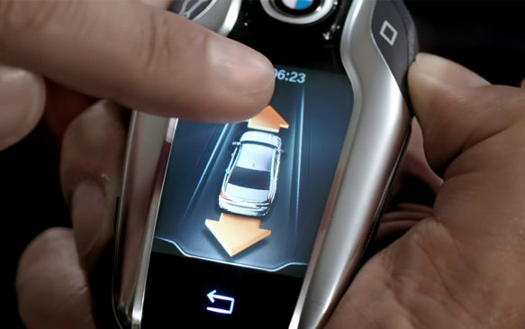 Remote parking feature on BMW Display Key
