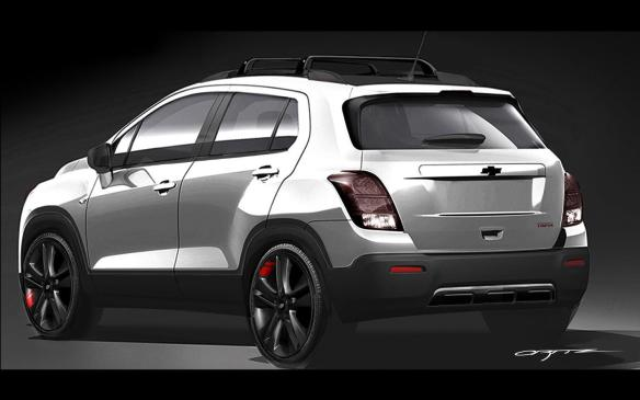 <p>Chevrolet Trax Red Line concept</p>