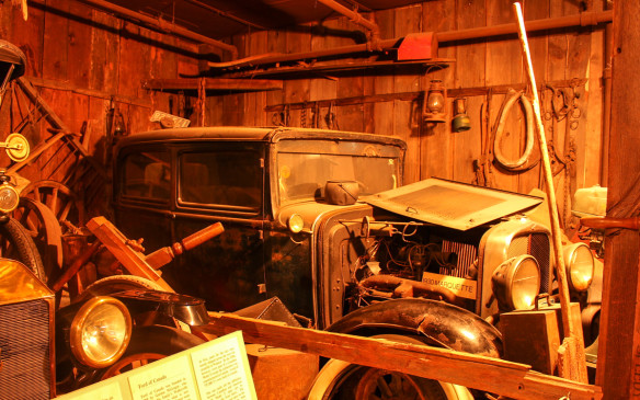 <p>This 1930 Marquette, displayed in barn-find conditions, was a Buick sub-brand, like La Salle for Cadillac and Viking for Oldsmobile. Although built in Canada, it was not exclusively Canadian as Marquettes were also built i the U.S.</p>