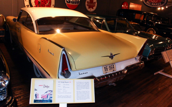 <p>The 1957 Dodge Regent was a Canadian model with Dodge front-end styling on a Plymouth, to give Dodge-DeSoto dealers a low-priced entry model, similar to the Meteor for Mercury dealers. In the U.S. the Dodge was a mid-priced nameplate.</p>