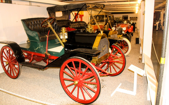 <p>Among the first cars to be seen on entering the museum is this 1909 Kennedy, built by one of many early Canadian auto manufacturers that failed to survive for long. Kennedy cars were built for just two years, 1909 and 1910, in what is now the Cambridge area of Ontario, where Toyota currently builds cars.</p>