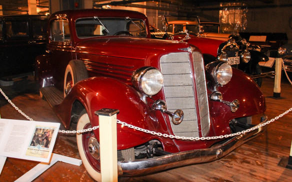 <p>McLaughlin-Buicks carried the joint name until production was halted for WWII. This 1934 McLaughlin-Buick Sport Coupe heralded a change in automotive style from the upright lines of the past two decades to the more streamlined look of the art deco era.</p>