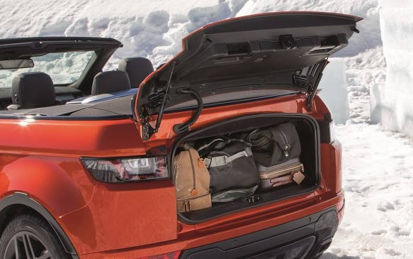 <p>2016 Range Rover Evoque Convertible trunk</p>