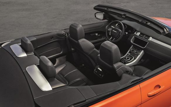 <p>2016 Range Rover Evoque Convertible interior</p>