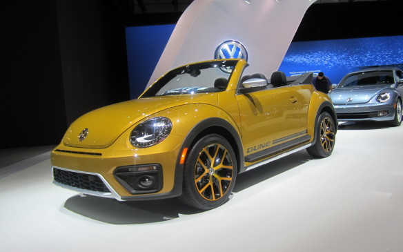 <p>Volkswagen, on the other hand, will produce Dune versions of its Beetle in both coupe and convertible form. Don't get excited about the promises its extra ground clearance and flared fenders make, however. Despite those pretensions of off-road capability it's not a four-wheel-driver; just the same old front-wheel-drive Beetle, albeit with a 210-horsepower, turbocharged 2.0-litre gasoline engine.</p>