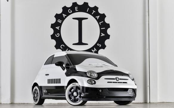 <p>Not surprisingly, given its location next door to Hollywood, there were plenty of cars with connections to movies at the LA show. This Fiat 500 rolling clone of a Stormtrooper helmet from <em>Star Wars: The Force Awakens</em> was one of the more unfortunate examples.</p>