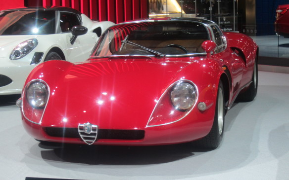 <p>This 1968 Stradale on the Alfa Romeo stand provided a welcome glimpse into the quadrafoglio brand's history.</p>
