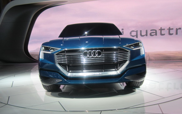 <p>The bumph about Audi's e-Tron Quattro SUV concept was all about its all-electric powertrain, which would make it a direct competitor for Tesla's much-hyped Model X. Just as significant, however, may be it styling with contoured fender-lines and a new grille that could signal a coming change in Audi's now long-in-the-tooth design idiom.</p>