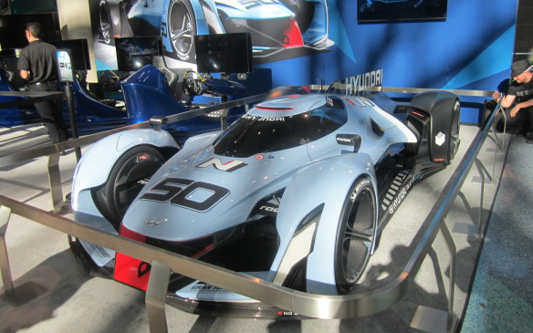 <p>Hyundai is not involved in World Endurance Racing but its designers must dream of being so for they created this Vision GT concept for the Gran Turismo 6 PlayStation game.</p>