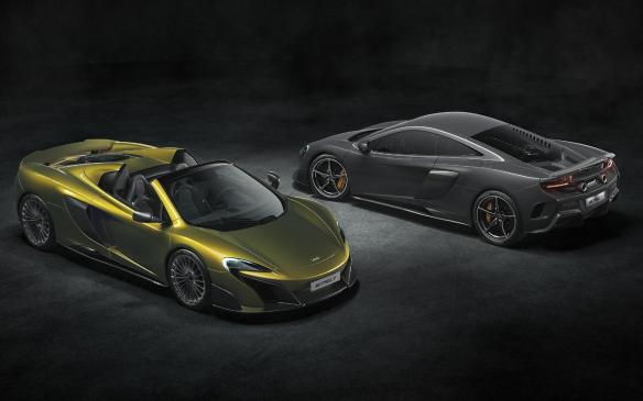 <p>2015 McLaren 675LT Spider and Coupe</p>