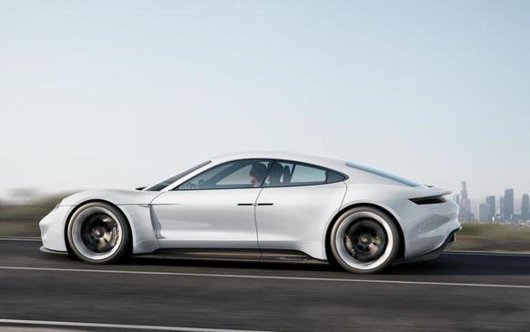 <p>Porsche Mission E concept car - 2015</p>