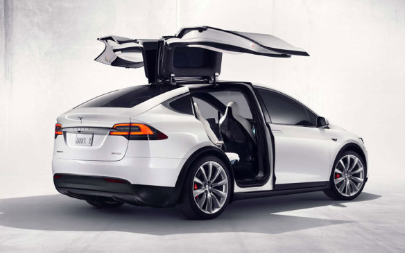 <p>The latest addition to the Tesla lineup is the Model X, essentially a utility vehicle variant of the Model S with the novelty of gull-wing rear doors. While it has already been seen at other venues, Toronto is its first official auto show appearance. Model X pricing when it arrives in Canada is expected be close to the double-century mark in Canadian dollars.</p>