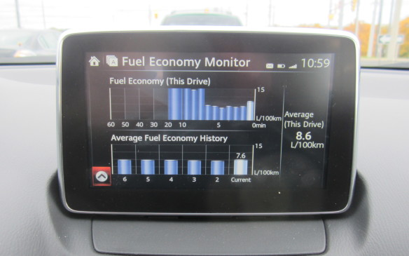 <p>Mazda CX-3 Fuel Economy Monitor</p>