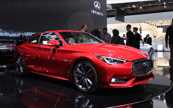 <p>Still thinking of sports coupes, Infiniti debuted its Q60, a lovely top-of-the-line coupe that will be sold with a choice of three engines, ranging from 208 horsepower to 400 hp.</p>