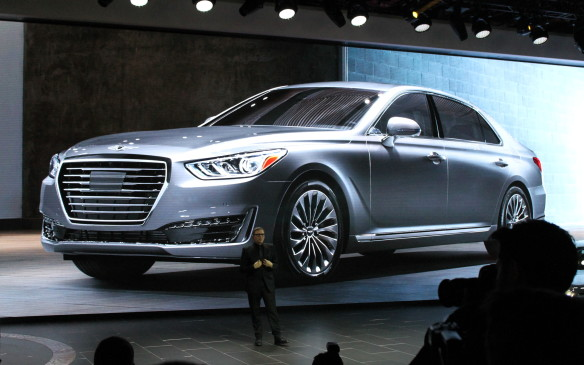 <p>The G90 was introduced by Hyundai president Peter Schreyer, and it's loaded with every luxury the maker can think of. There'll be powerful V6 and V8 engines, and it promises both a refined and a sporty ride, developed from testing on the Nurburgring. The driver's seat adjusts in 22 different ways.</p>