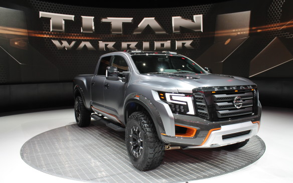 <p>Infiniti's parent company, Nissan, showed off its new Titan pickup truck in Warrior concept trim, as a way to take it off-road and give it some American macho cred. It'll be a direct competitor to the Ford F-150 Raptor if it's built.</p>