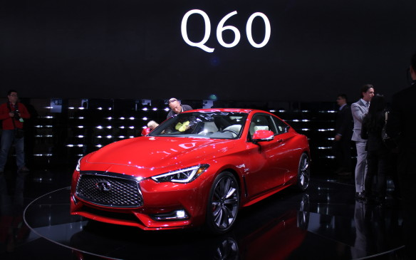 <p>The Q60 will lead the way as a halo vehicle for Infiniti in 2016. Both rear-wheel-drive and all-wheel-drive versions will be available, with adjustable suspension and selectable drive modes.</p>
