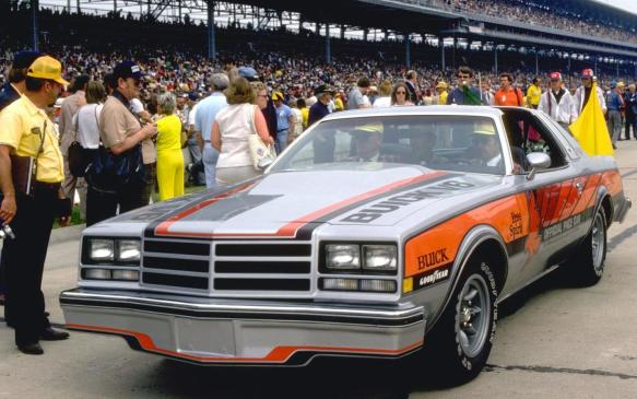 <p>Buick's dalliance with turbocharging began with this purposeful pace car for the 1976 Indianapolis 500. Engineers leveraged the then recently revived, more-efficient 231 cubic inches (3.8-litreV-6) engine that was replacing larger V-8 engines in many production models. They pumped it up with 22 pounds of boost, resulting in a peak output of 306 horsepower from the little V-6.</p>