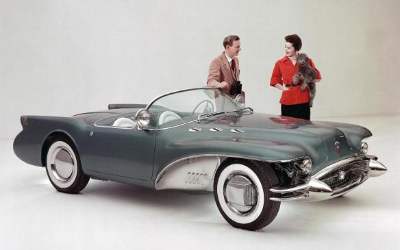 <p>The Buick V-8 engine – nicknamed the Nailhead V-8 for its unique valve arrangement and small valve diameters – was introduced in 1953 and powered the Wildcat II concept vehicle a year later. Using a quartet of sidedraft carburetors, engineers coaxed 10% more power from the engine than regular-production models, giving the car the power to back up its sporty styling. Through that era, the Century remained Buick's performance model, combining the brand's big Roadmaster engine with the smallerbody used for the Special model.</p>