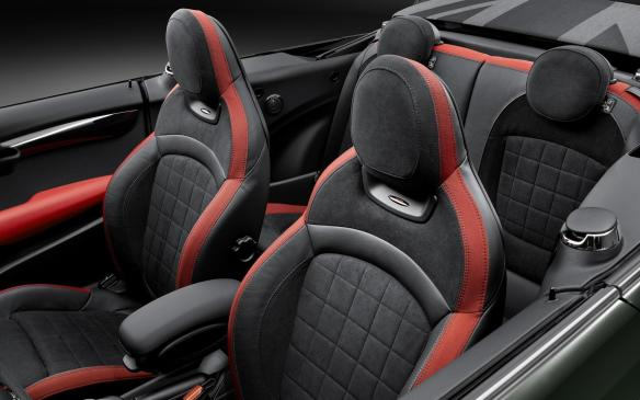 <p>2016 Mini Cooper JCW Convertible interior</p>