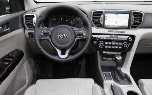 <p>2017 Kia Sportage interior</p>