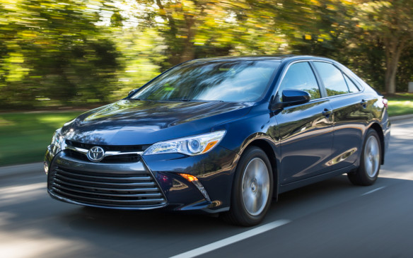 <p>Toyota's revamped 2015 Camry surpassed both the Ford Fusion and Honda Accord to claim the final spot in the passenger car top-ten list and reclaim the top spot among intermediate cars.</p>