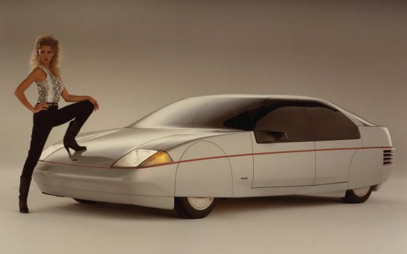 <p>With the energy crisis of the early-1980s, Ford was looking to redo the Mustang and started looking at aerodynamic little replacements. Along came Ghia and the two companies sent out a series of Probes — concepts to explore what the future pony car might look like — culminating in the radically sleek Probe V of 1984, though the preceding model was the one deemed most likely for the production version.</p>