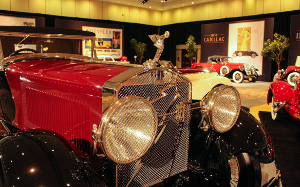 <p>The third member of the superstar troika in the display, prominently placed on the highest platform, was this Isotta Fraschini Tipo 8A SS. Introduced at the New York Auto Show in 1928, it was purchased initially by Harry Williams, an aviation pioneer, and his wife Marguerite Clark, a silent movie star. Other early film stars to drive Isottas included Clara Bow and Rudolph Valentino.</p>