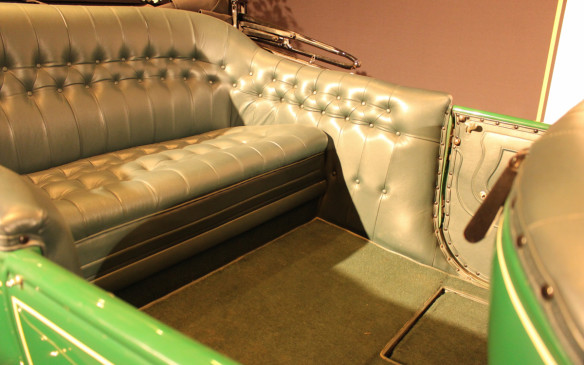 <p>The rear seat of the Cadillac offered legroom unheard of today even in stretch limousines.</p>