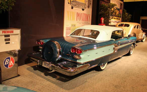 <p>Pontiac introduced the Parisienne nameplate in 1958 on this Canadian counterpart to the U.S. Bonneville model. While they shared the same styling, under the skin the Canadian models used Chevrolet chassis and engines. The options and accessories on this car were typical of the day, as was the hand-drawn artwork in the ad.</p>