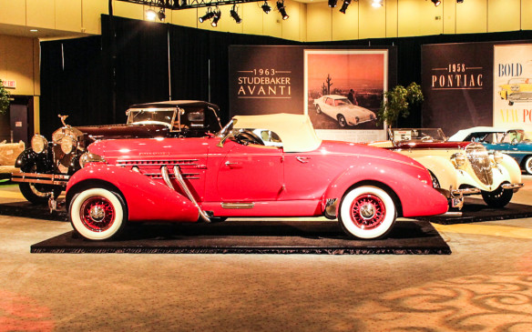 <p>Designed by the legendary Gordon Buehrig, who was also responsible for such iconic designs as he Cord 810/812, the 1935 Auburn 851 S/C Boattail Speedster was the American sports car of its day. Powered by a supercharged straight-eight engine, it had a top speed of more than 100 mph (160 km/h) and it styling made it look even faster.</p>