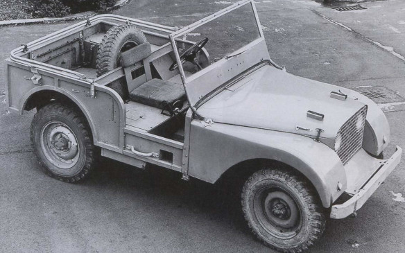 <p>Conceived as an agricultural vehicle, the Land Rover prototype featured a centre-mounted steering wheel that would be familiar to farmers, with seats on either side that could be removed to make room for cargo or supplies.</p>