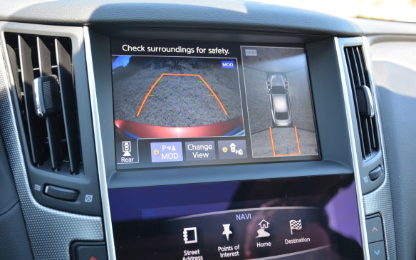 <p>The Q50 features a tonne of safety technology that includes Forward Emergency Braking, Back-up Collision Detection, Blind Spot Monitoring, Lane Departure Warning, Predictive Forward Collision Warning, Active Lane Control and an Around View Monitor with Moving Object Detection. Active Lane Control combined with Direct Adaptive Steering helps the dive stay within the identified lane and is considered Phase 1 of Infiniti's plan towards transitioning to autonomous driving.</p>