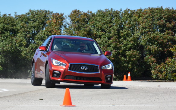 <p>It's hard to find a vehicle that is both quiet and powerful, but that's exactly how the Q50 Red Sport 400 felt on the streets of San Antonio. Initial acceleration is gradual with seamless gear shifts, but it gets up to speed quickly without much road noise.</p>