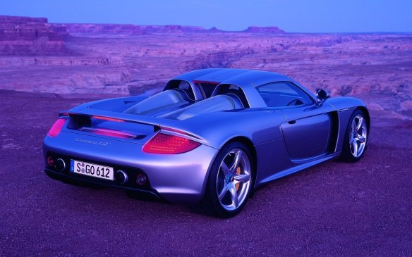 <p>Following a short-lived 911 GT1 Straßenversion, Porsche finally got its street-legal race car in the form of the 2004 Carrera GT, taking it to supercar territory with the use of a 605-hp 5.7-litre V-10 (though it was originally planned to continue with a twin-turbo H-6). Over three years, 1,270 of the carbon-fibre monocoque cars were made (nearly half sold in North America at an MSRP just shy of $500,000).</p>