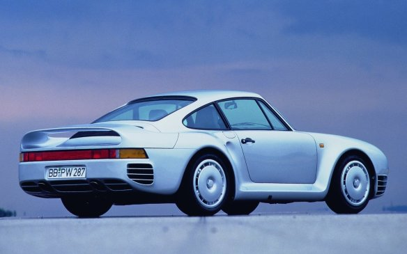 <p>Featuring Porsche's first 4-wheel drivetrain, the 959 was intended to be a rally car. It featured a twin-turbo 2.9 Boxer-6 with 444 hp available across a broad RPM plateau due to the sequential turbos. Very few of the 337 street cars produced made it to North America, and were not certified for everyday use except for special events.</p>