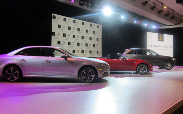 <p>The 2016 World Car of the Year was chosen from these three finalists – the Audi A4, Mazda MX-5 and Mercedes-Benz GLC – based on individual evaluations and secret balloting by 73 top-level automotive journalists from 23 countries around the world. Each vehicle was rated separately in seven different areas to determine an overall score.</p>