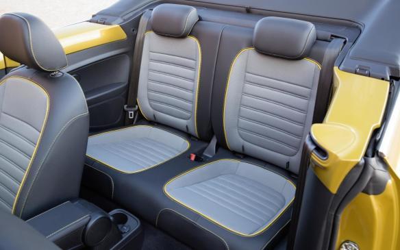 <p>Volkswagen Beetle Dune rear seats</p>
