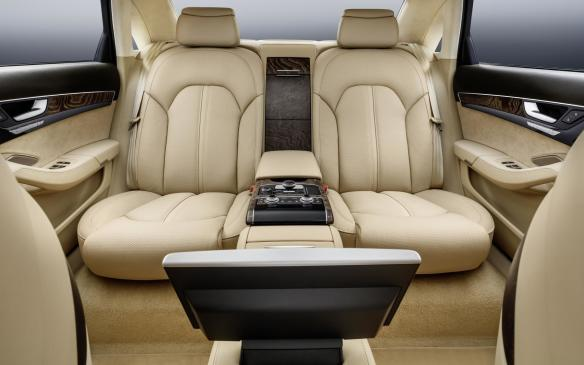 <p>Audi A8 extended rear seat</p>